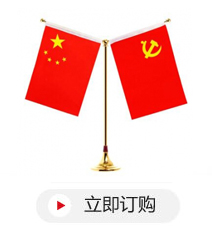 HX-8 铝合金Y形桌旗座+党旗+国旗
