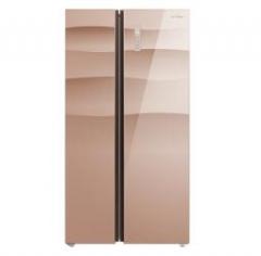 美的(Midea)BCD-540WKGPZM 风冷无霜双变频节能540L对开门冰箱玫瑰金 货号590.A9