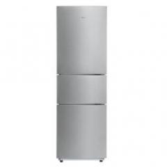 美的(Midea)BCD-219TM 小型三门冰箱家用节能静音219升 极光银 货号590.A9
