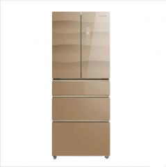 美的(Midea)BCD-360WTGPV 360升 玻璃面板 风冷无霜 变频节能 电脑控温 家用多门电冰箱