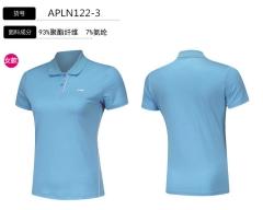 2018李宁女子短袖POLO衫翻领运动服APLN122-3新疆蓝,货号008.ZH238