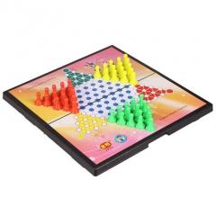 正品友明儿童磁石折叠跳棋,便携折叠跳棋大号套装,货号008.ZH310