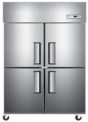 现货次日达 海尔(Haier) 厨房冰箱直冷四门冷冻柜商用不锈钢酒店厨房冰箱促销 货号009 SL-1050D4