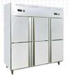 现货次日达 莱福特  六门冰柜厨房冰箱商用不锈钢冰柜冷柜展示柜立式冷藏冷冻保鲜柜 六门冰箱 货号009