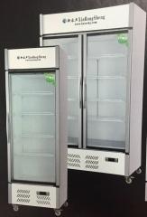 现货次日达 容声     留样柜单门小冰箱酒店冷藏柜电冰箱节能留样柜 冰吧透明玻璃宾馆 货号009 560*550*1880
