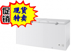 好鸭双开门卧式冰箱卧式商用超大容量冷冻柜冷藏保鲜展示柜家用双门顶开大型立式冰箱 货号009
