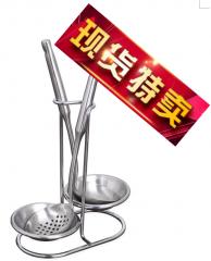 现货次日达  不锈钢汤勺架子双头天鹅火锅勺架汤勺架家用厨房置物架 勺子架   货号009