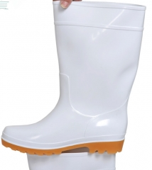 现货次日达   44号中筒雨鞋 牛筋底卫生靴 食品鞋厨房加棉中筒雨鞋 男雨鞋女 货号009