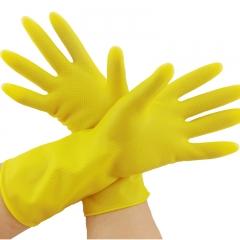 现货次日达  牛筋乳胶手套加厚耐用家务清洁洗碗橡胶手套塑胶防水胶皮劳保   货号009