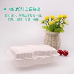 一次性快餐盒饺子透明打包盒 黄焖鸡米饭盒 肠粉盒炒饭炒面盒  货号009
