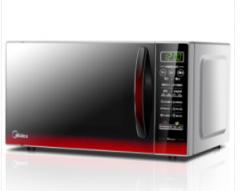 美的(Midea)EM7KCGW3-NR快捷微波炉微电脑操控平板加热智能蒸煮菜单 20升货号009