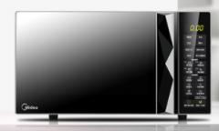 美的M3-L233B黑色多功能微波炉 光波烧烤智能湿度感应大平板均匀加热 23升 货号009