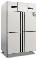 美厨  欧款风冷直冷混合四门冰箱商用冰柜 双温冷藏冷冻不锈钢厨房冰箱商用冰箱 货号009