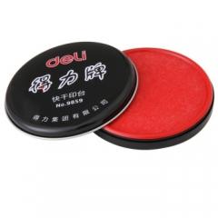 得力(deli)9859 快干印台(红色) (30个起送)货号 013.LK