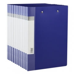 得力(deli) 5364 ABA系列A4双强力夹文件夹 蓝色 12只装  货号013.LK