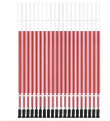得力6906 0.5mm按动式红色笔芯 5盒起送  货号013.LK