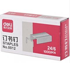 得力0012通用型订书钉 20盒起送  货号013.LK