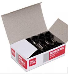 得力9545  19mm黑色长尾票夹 20盒起送  货号013.LK