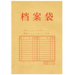 得力5953牛皮纸档案袋  100个起送  货号013.LK