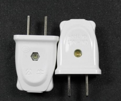 公牛插头10A电线二头两脚接线两孔单项项电源2脚二脚二极货号099.L73