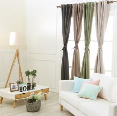 ADP窗帘成品3.58*2.55m全遮光窗帘简约现代飘窗落地窗货号099.L45