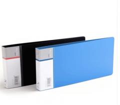 现货隔日达 得力(deli)5354 PP票据夹 颜色随机  10个/组  货号016.LG3177