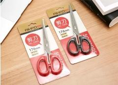 办公剪刀锋利 爱好美工剪 小剪刀办公文具2305 红色一把   货号016.LG3