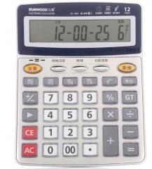 计算器 三木(SUNWOOD)  商务语音计算器 计算机 赠电池1843小号  货号016.LG3222