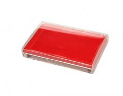 现货隔日达 三木(SUNWOOD) 6282 方形透明外壳快干印台 红色 5个/组 货号016.LG3197