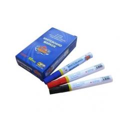 东洋白板笔 彩色儿童画板笔可擦 快干记号画板教具笔 画板笔 黑色 一盒10支装    货号016.LG3033 红色