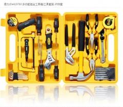 现货隔日达 得力(deli)3702 多功能组合工具箱/工具套装 25件套   货号016.LG3108