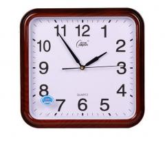 现货隔日达    康巴丝(COMPAS)静音挂钟时尚钟清晰石英钟2567  2551 咖木色  货号016.LG3110