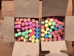 现货隔日达 孔雀彩色粉笔  白色 环保无毒80后记忆60盒/箱  学校教学用粉笔 货号016. LG3026 白色