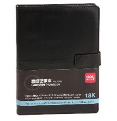 得力 7941 皮面笔记本PU笔记本 18k/120页(单位:本) 混色货号888.LS104