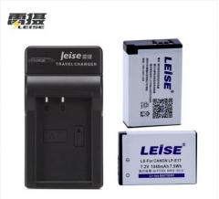 雷摄 LEISE LP-E17数码相机电池+便携充电器两电一充套装 适用于:佳能EOS M3 750D 760D微单反 货号:888.ZL