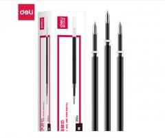 得力(deli)6906 0.5mm按动黑色笔芯 子弹头中性笔水笔签字笔替芯      XH.146