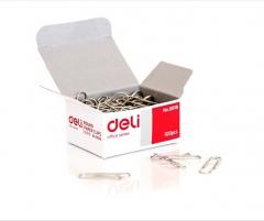 得力(deli) 0018 银色金属回形针曲别针财务用品  货号888.hc220