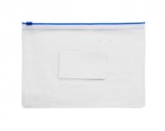 得力拉边袋5588 文件袋 透明防水文具袋  货号888.hc230