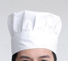 厨师工作帽男女酒店餐厅糕点厨房平顶工作帽厨师帽 2个/组  货号888.JQ459