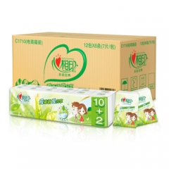 心相印茶语手帕纸 经典系列 4层6条*12包 (整箱销售/新老包装随机发货)     QJ.053