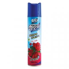 爱家香空间空气清新剂300ml 玫瑰 去味 卫生间除臭 香薰 芳香剂 除味剂 货号100.XH375