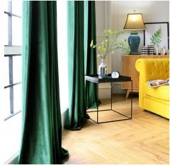 兴旺 落地式墨绿色丝绒窗帘 高度5米长18米 货号888.hc456