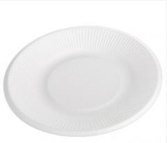 宜洁 一次性餐碟户外烧烤可降解纸盘8寸圆盘Y-9721    货号888.JM