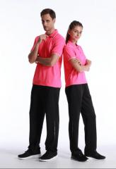 非现货七日达(金佰大体育)短袖运动T恤 polo衫 可定制logo印制 乒乓球服 羽毛球服 男女同款  货号069.Y2 黑色L