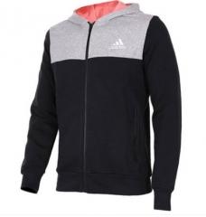 (金佰大体育)Adidas阿迪达斯运动外套冬季男子防风保暖加绒连帽针织夹克AY4539 货号069.Y71