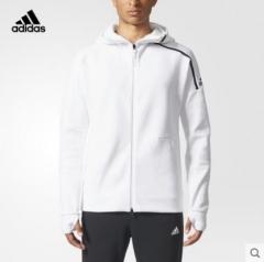 (金佰大体育)adidas 阿迪达斯 运动型格 男子 针织夹克 白 CD6277 货号069.Y83