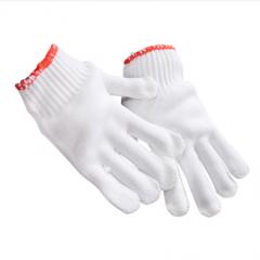 赫力斯HELISI劳保手套白线手套防护手套高密度21支纱电脑织黄边  10副/包   JC.176