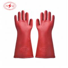 双安绝缘手套防触电手套橡胶手套电工手套 (12KV) JC.226