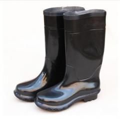 普达 劳保雨靴子长筒雨靴优质仿橡胶靴工矿用靴 42码   JC.230