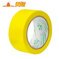 天坛PVC警示胶带地标警戒地面安全斑马线胶带 4.8CM*25M  黄色   JC.239